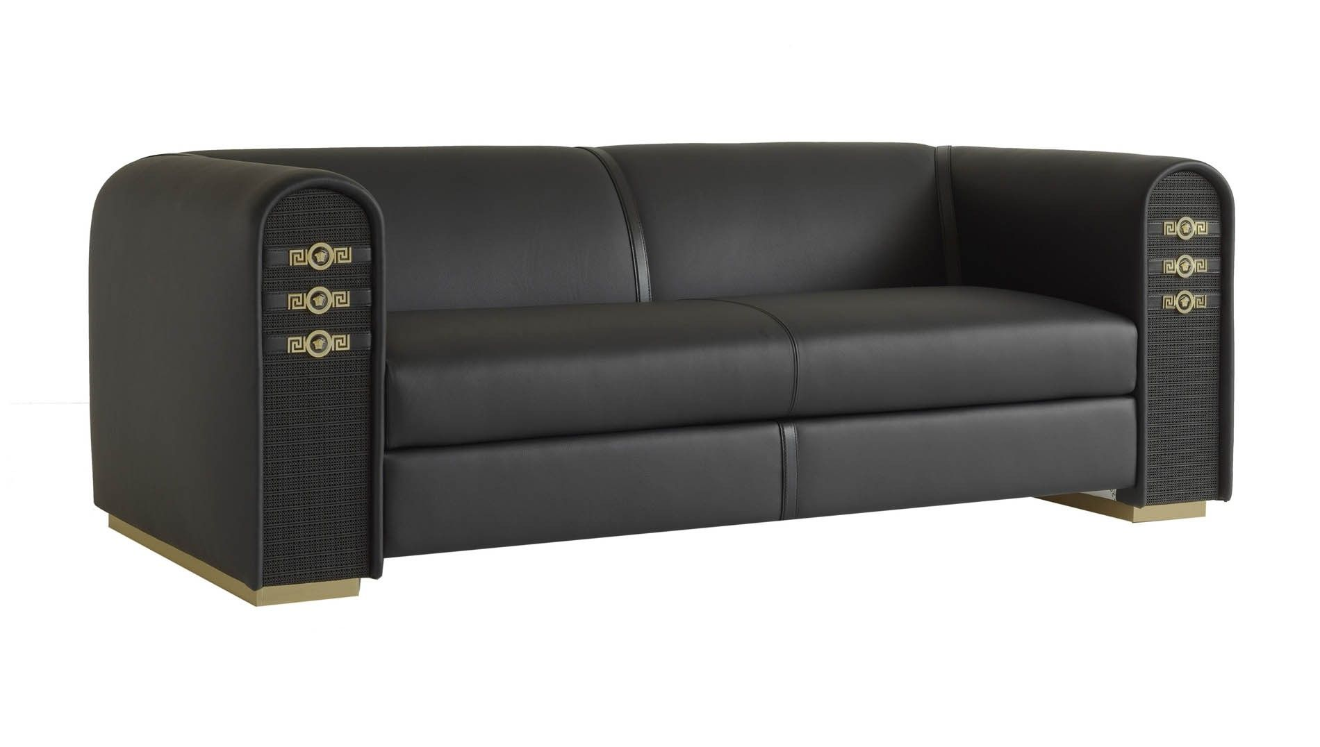 versace sofa house of murphy newry sofas leather logo home collection a son s