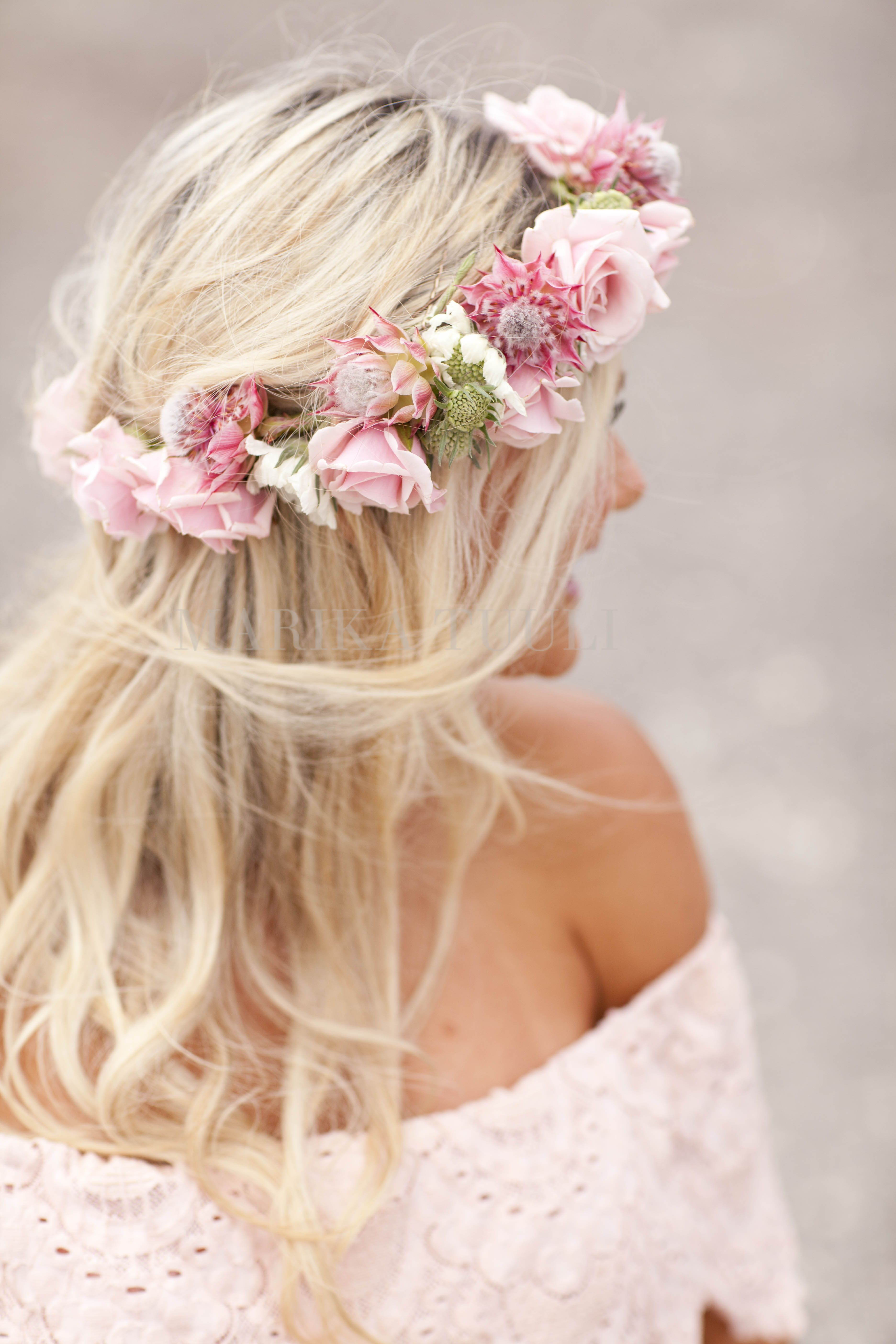 Flower Crown Maternity Photo Pink Flowers Pink Flower Crown Flower Crown Hairstyle Baby Flower Crown