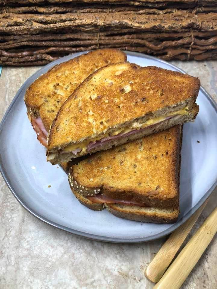 Air Fryer, Ham and Cheese Sandwich Recipe Ham, cheese