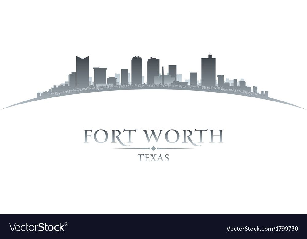 Fort Worth Texas City Skyline Silhouette Vector Image Ad Texas City Fort Worth Ad City Skyline Silhouette City Skyline Texas City