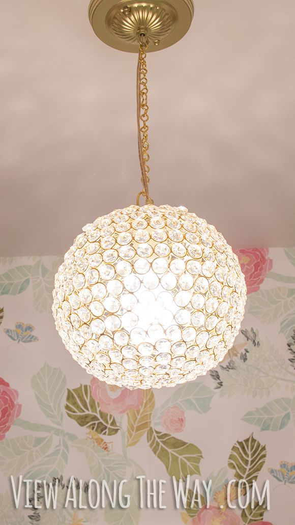 Diy crystal ball chandelier only 60 and easy to make diy diy crystal ball chandelier only 60 and easy to make mozeypictures
