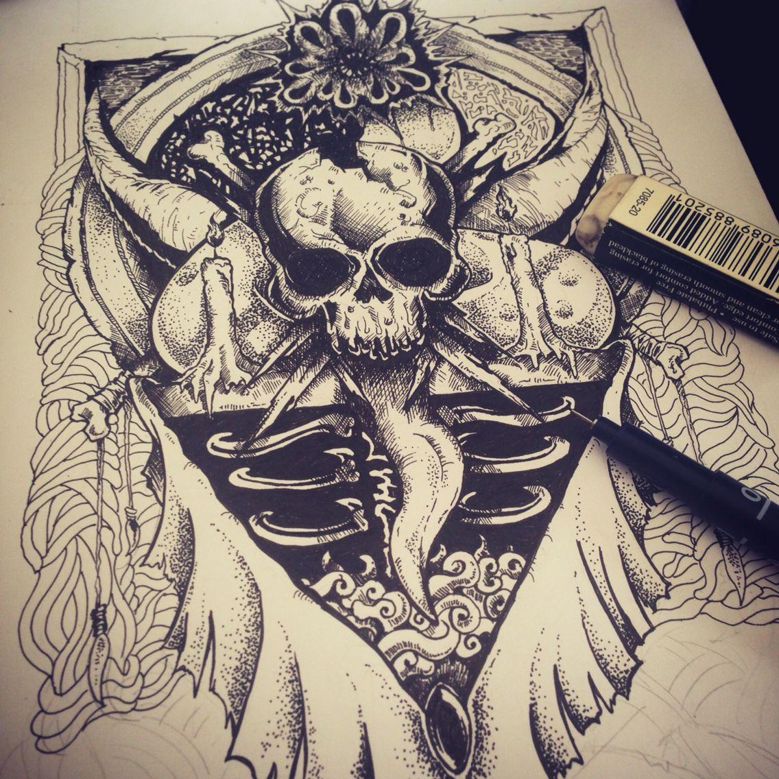 Inking #tshirt #design #pen #draw