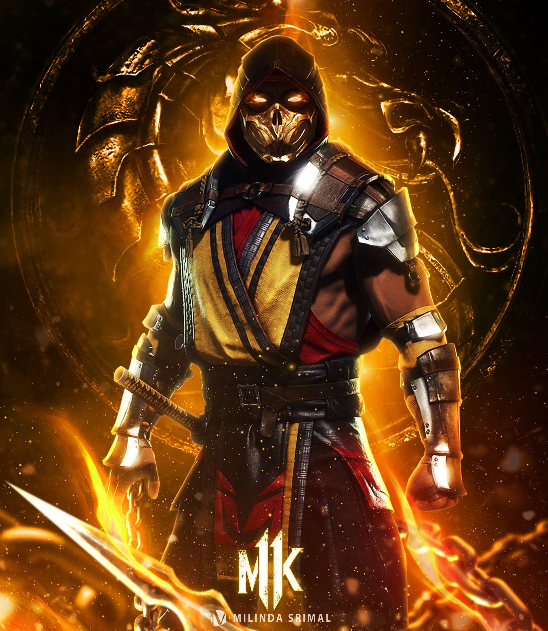 Mortal Kombat 2021 Poster Scorpion Poster Scorpion Mortal Kombat Mortal Kombat Art Mortal Kombat X Wallpapers