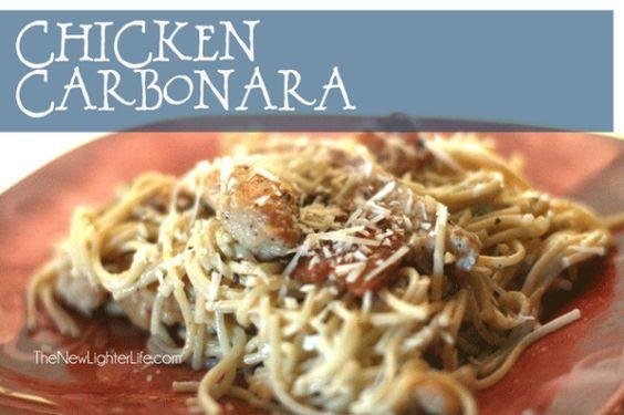 THM recipes- chicken carbonara