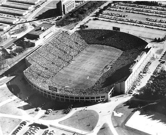 Macklin Field Stadium 1952 Michigan State Football Michigan State Spartans Michigan State Spartans Football