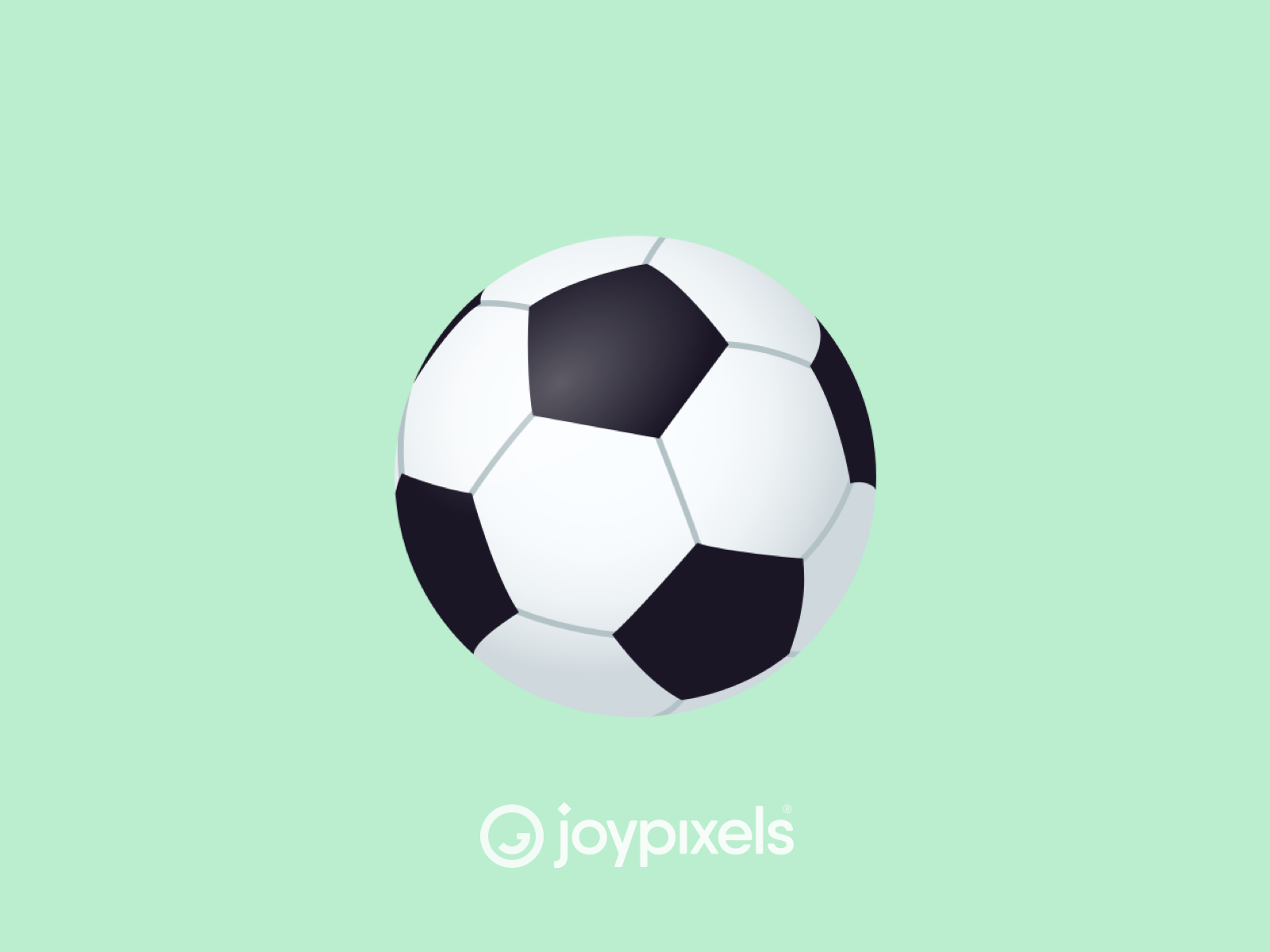 The Joypixels Soccer Ball Emoji Version 4 5 Soccer Ball Soccer Ball