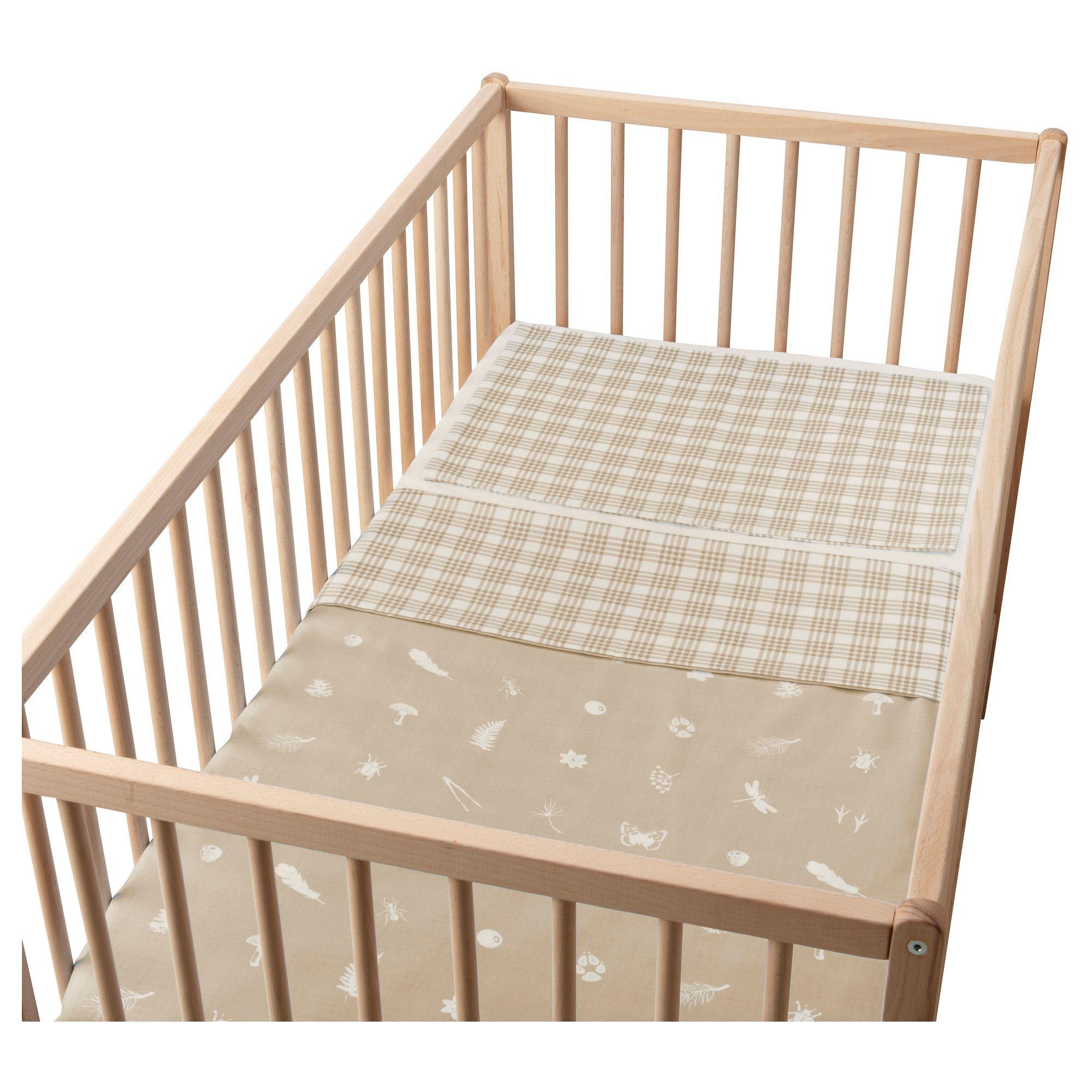 VANDRING SKOG Crib duvet cover/pillowcase - beige - IKEA $9.99
