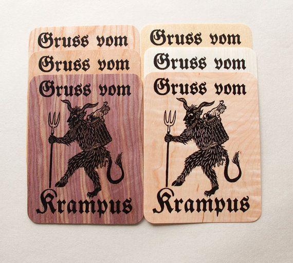Gruss vom Krampus ---- Krampus, also known as the Christmas devil