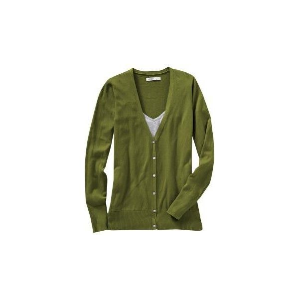 Olive green cardigan ❤ liked on Polyvore featuring tops, cardigans, olive green cardigan, olive green top, army green top, olive top and old navy tops