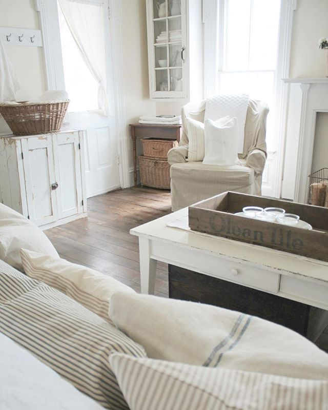 Farmhouse Chic Living Room Decor: Our Living Room Blog Post Is Up!!! #farmhouse5540