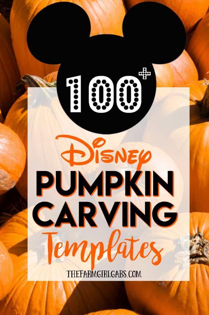 60+ Disney Pumpkin Carving Templates #disney #halloween #pumpkincarving #disneysmmoms #pumkincarvingdesigns