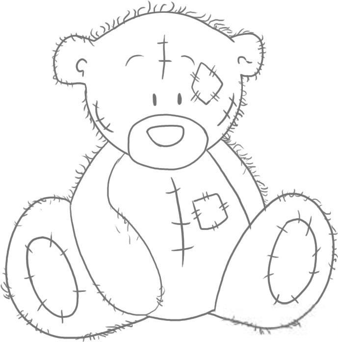 Мечетью, как нарисовать медвежонка на открытку по частям