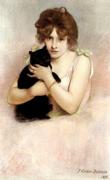 černé ženy milují kočičku