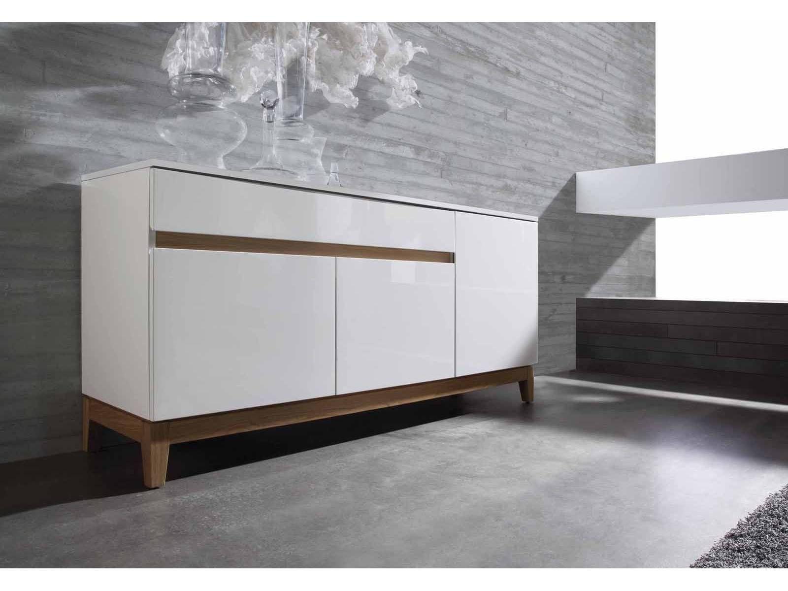 Aparador Moderno Lacado Blanco Alto Brillo M E S A S Pinterest  # Muebles Lacados En Blanco Baratos