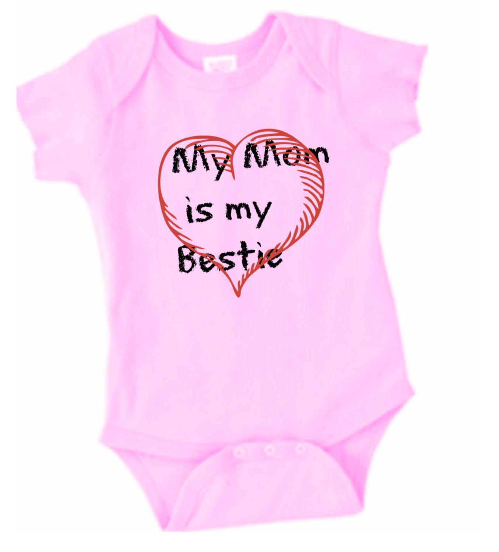 My Mom is My Bestie T-Shirt, Baby T-Shirt, Funny Baby Onsies, Baby Girl T-Shirt Baby Girl One Piece Tshirt by LilBluePossum on Etsy