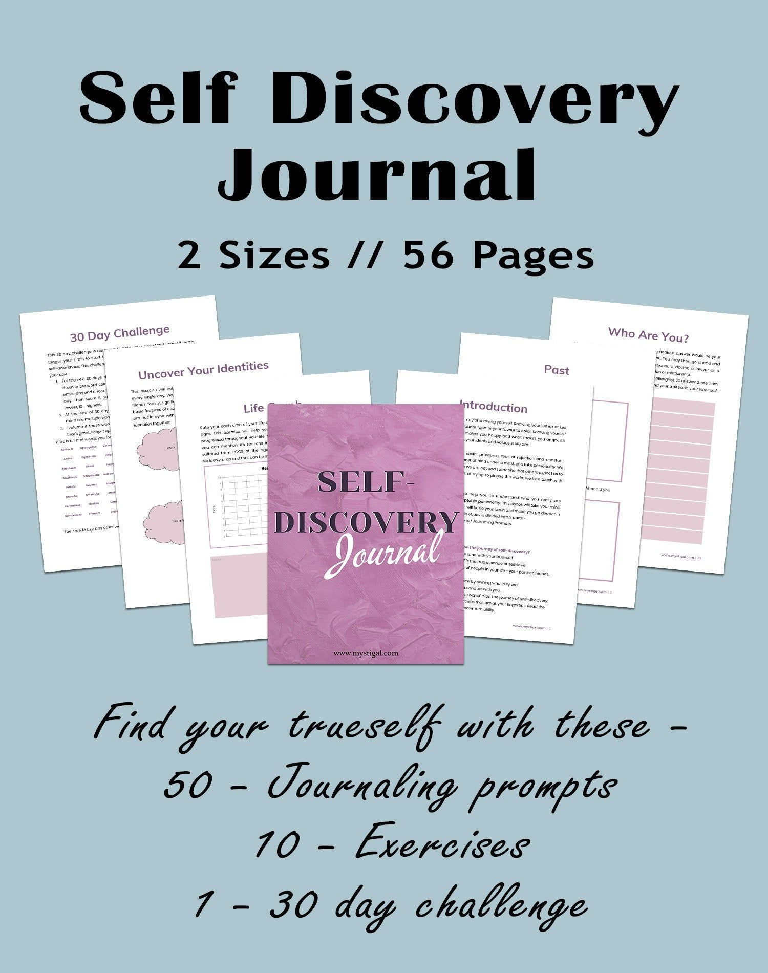 Self Discovery Journal Self Discovery Printable Workbook