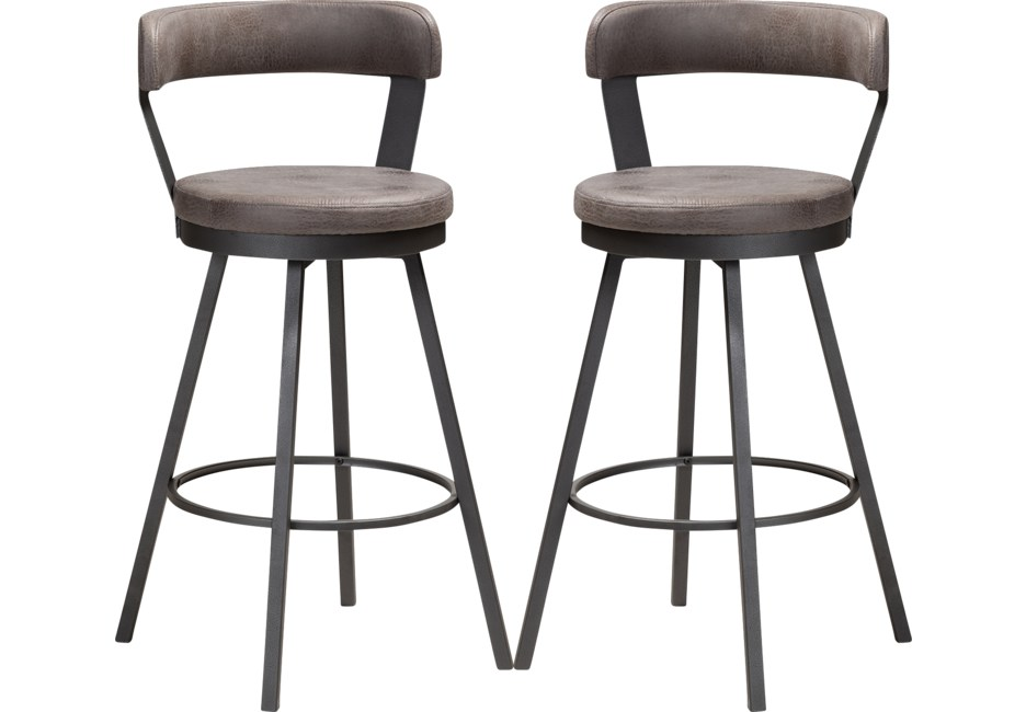 Summerglen Gray Counter Height Stool Set Of 2 In 2020 Counter