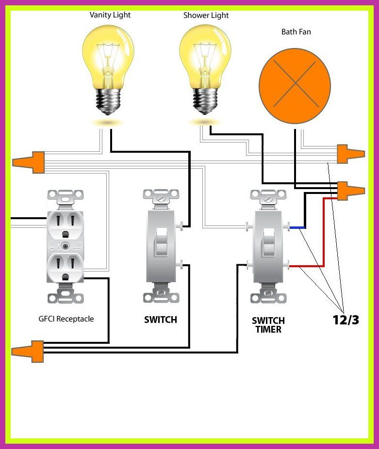 43 Reference Of Bathroom Fan Wiring With Light Bathroom Fan Bath Fan Bathroom Lighting