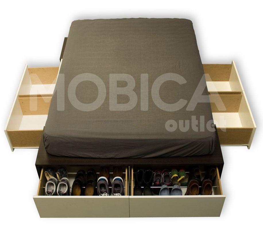 Box sommier base somier cama 2 plazas cajones y botineros krevet pinterest somier cama - Somier con cajones ...