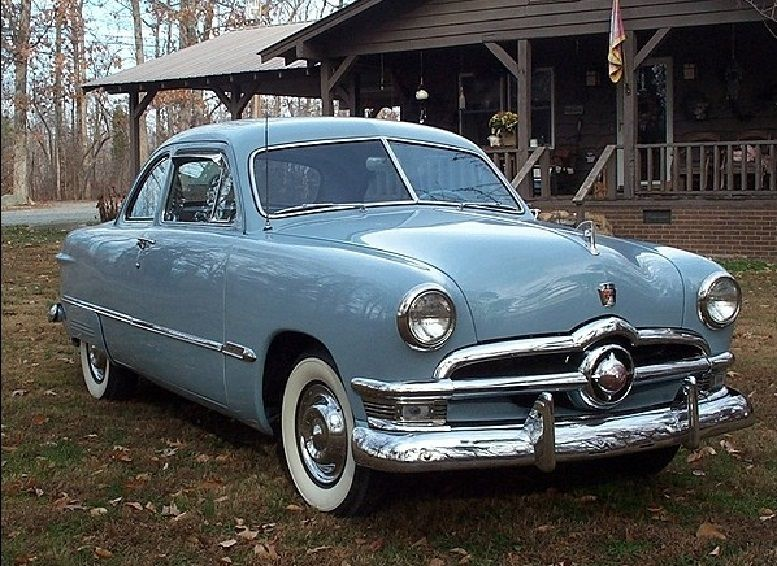 1950 Ford Powder Blue Custom Coupe Ford Classic Cars Vintage Cars 1950s Classic Cars Trucks