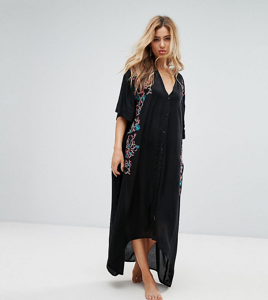 Akasa embroidered maxi beach caftan black products