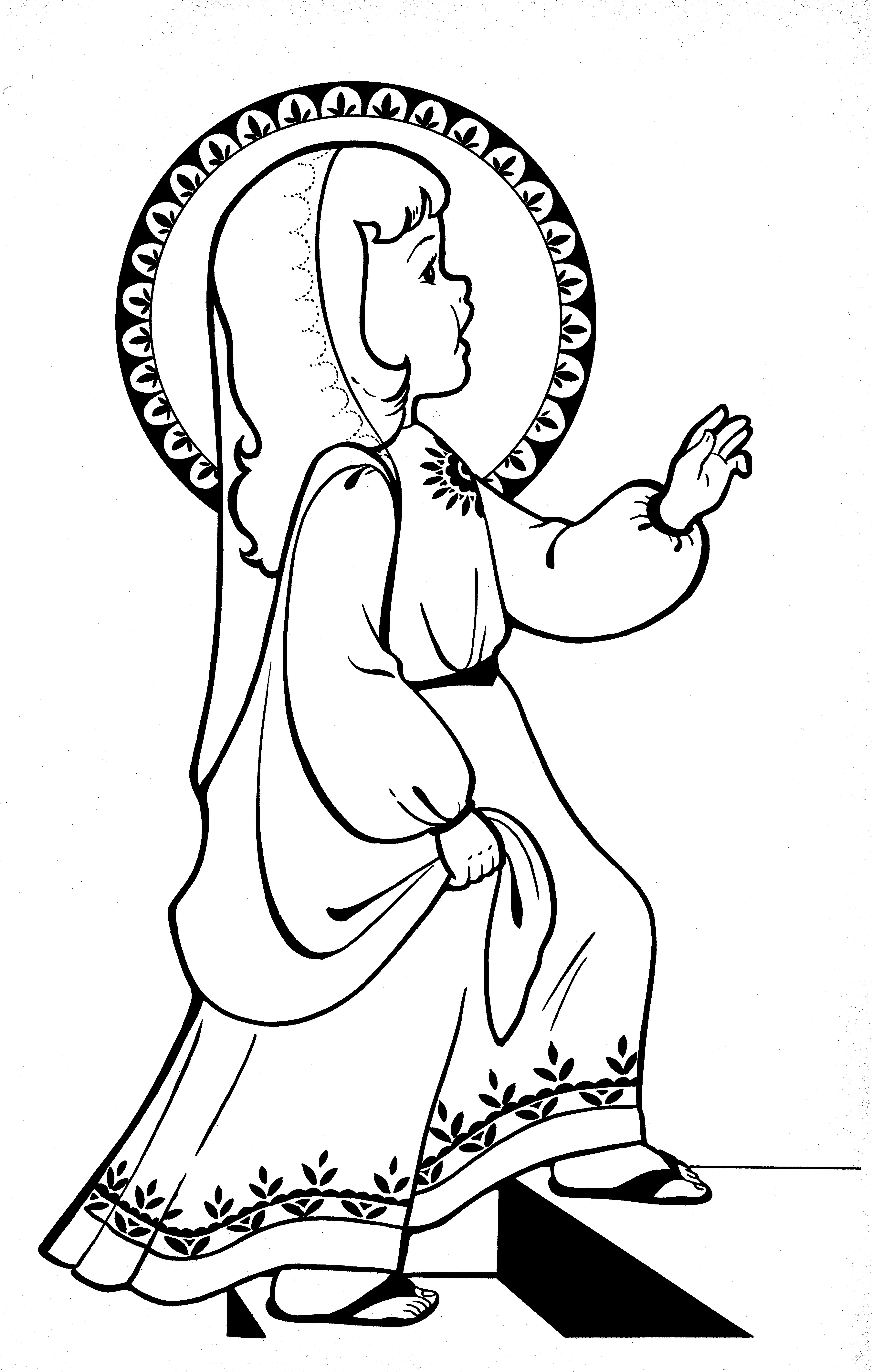 Presentation of the Blessed Virgin Mary coloring page | Liturgical ...