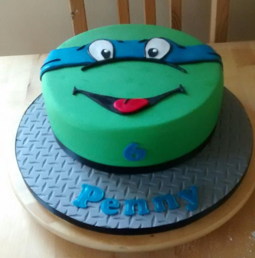 TMNT face cake by Catherine Cakes Cake Decorating Daily