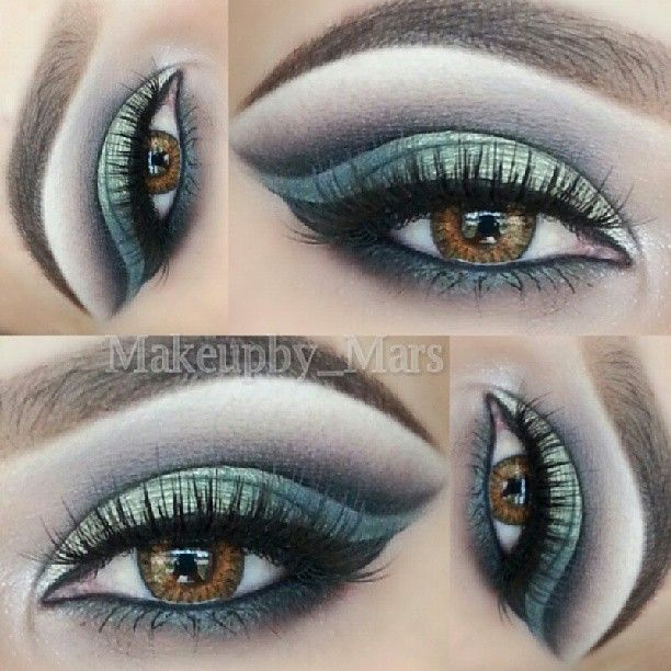dramatic cut crease ♥  @ makeupby_mars