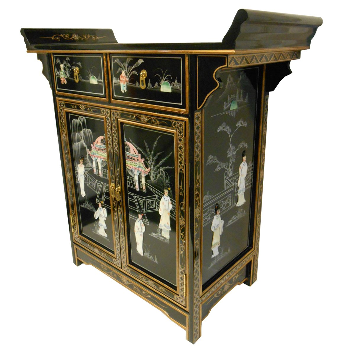 Oriental Altar Cabinet With Mother Of Pearl Inlays In 2019