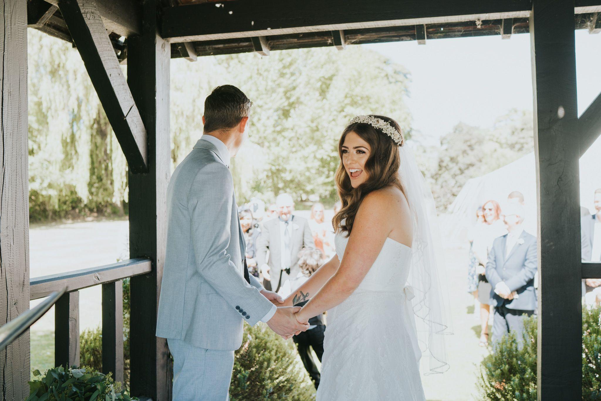 Outdoor boho diy wedding ceremony at prested hall essex wedding