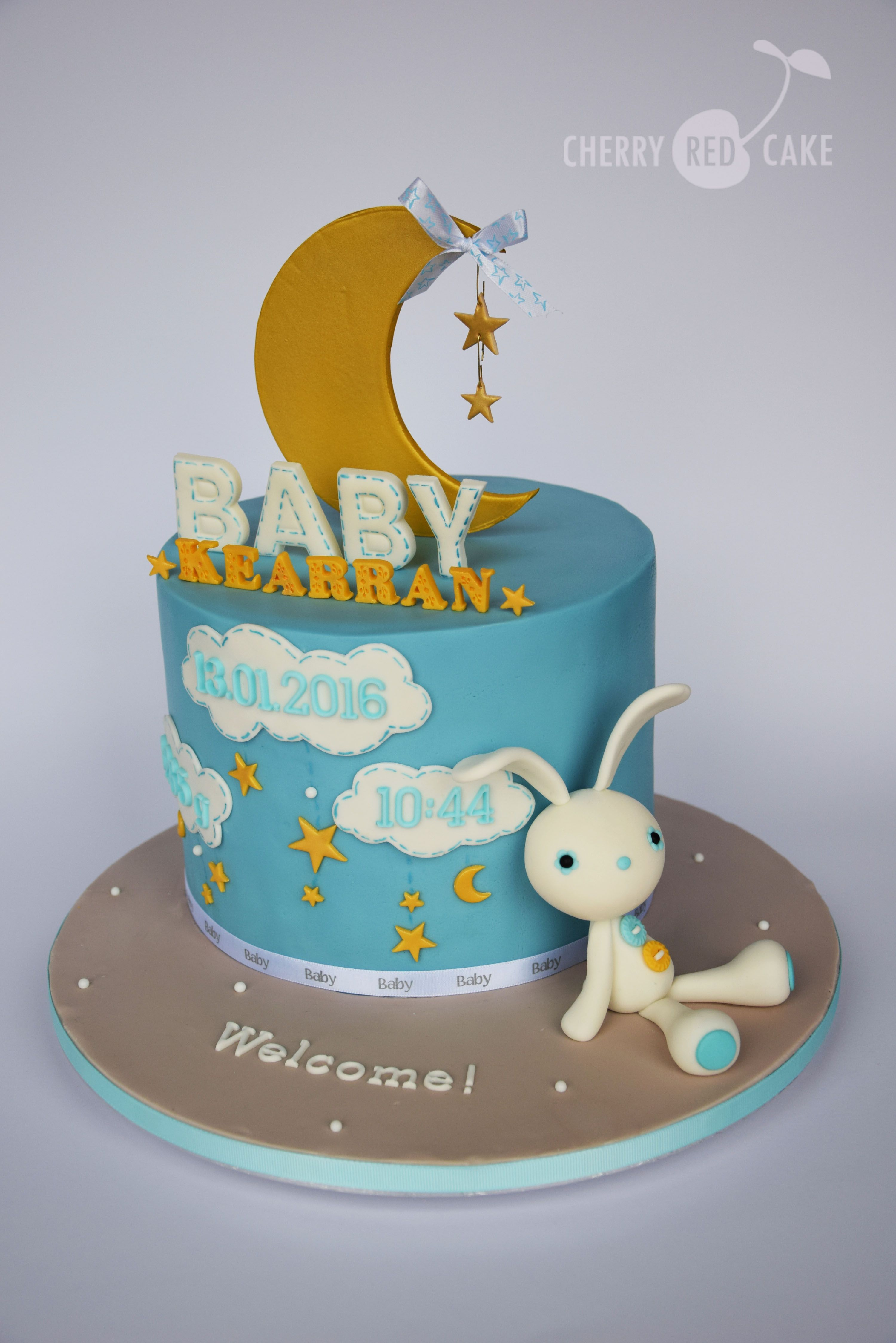 Wel e baby boy cake