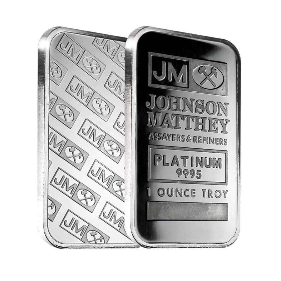 1 Oz Johnson Matthey Jm Platinum Bar 9995 Fine Sealed Platinum Gold Coins Precious Metals