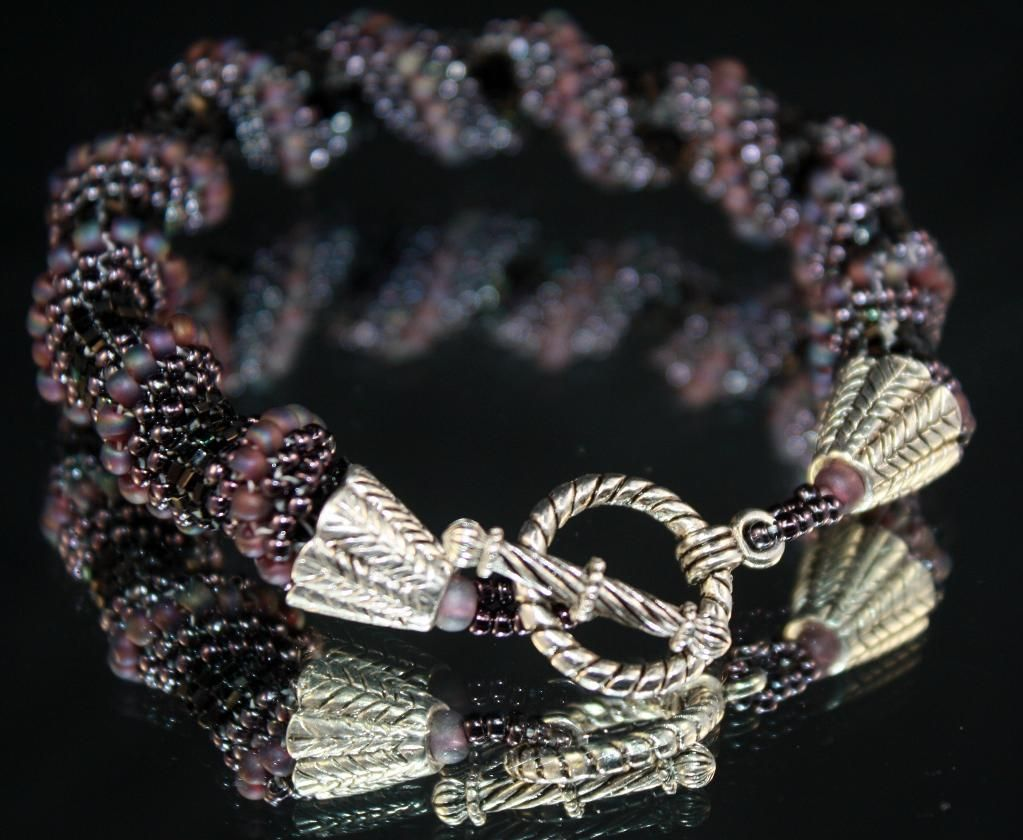 cellini spiral | Weaving Ideas | Project on Craftsy: Cellini Spiral bracelet