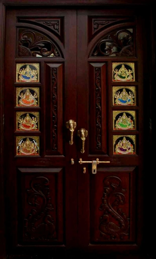 Image Result For Mantras On Pooja Room Door Floral