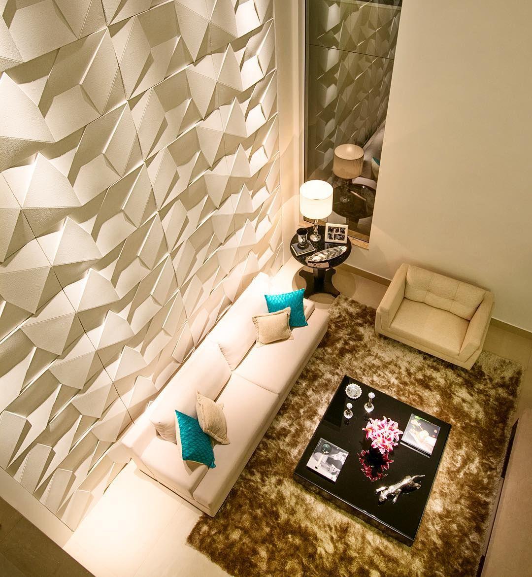 Scaleno Castelatto Castelatto Pinterest 3d Wall Texture  -> Parede De Pe Direito Duplo Sala