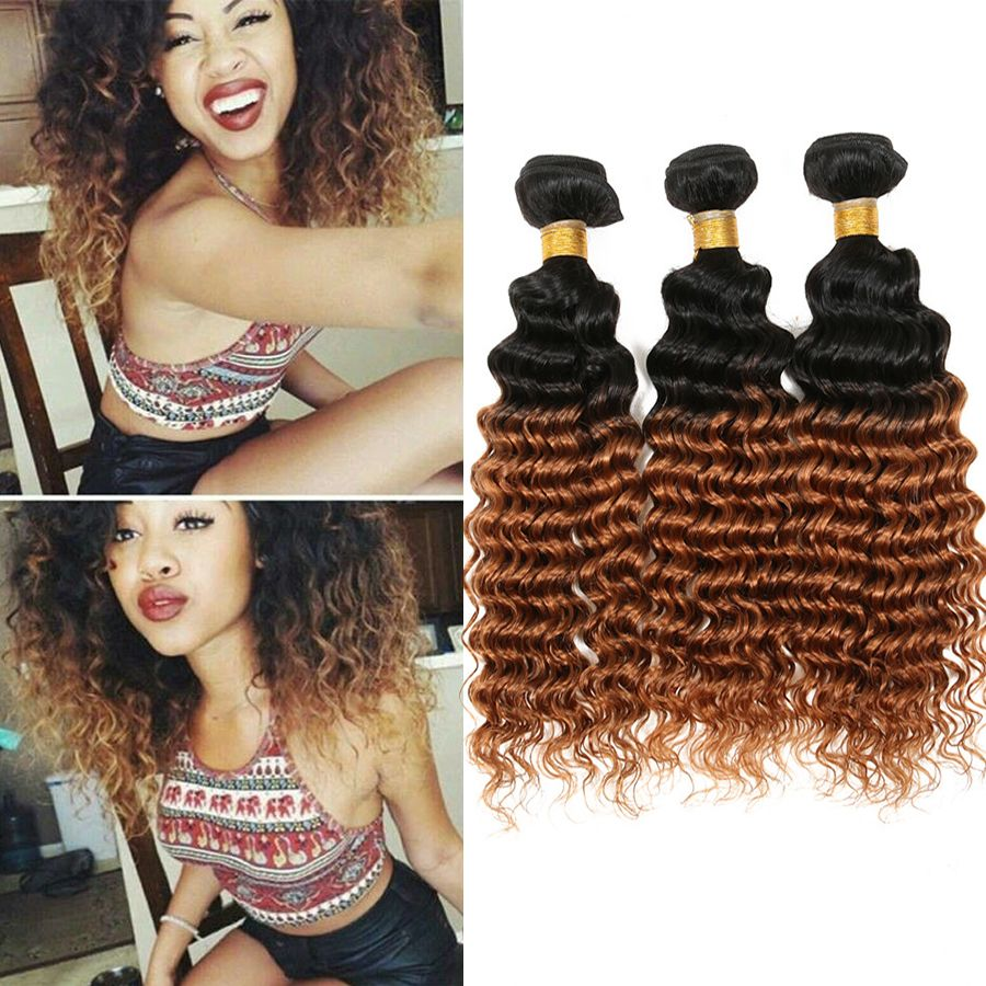 ombre brazilian hair brazilian deep wave two tone ombre deep