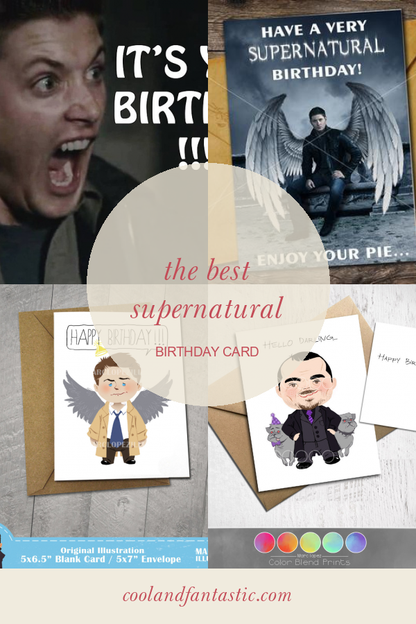 The Best Supernatural Birthday Card Supernatural Birthday Husband Birthday Card Birthday Cards