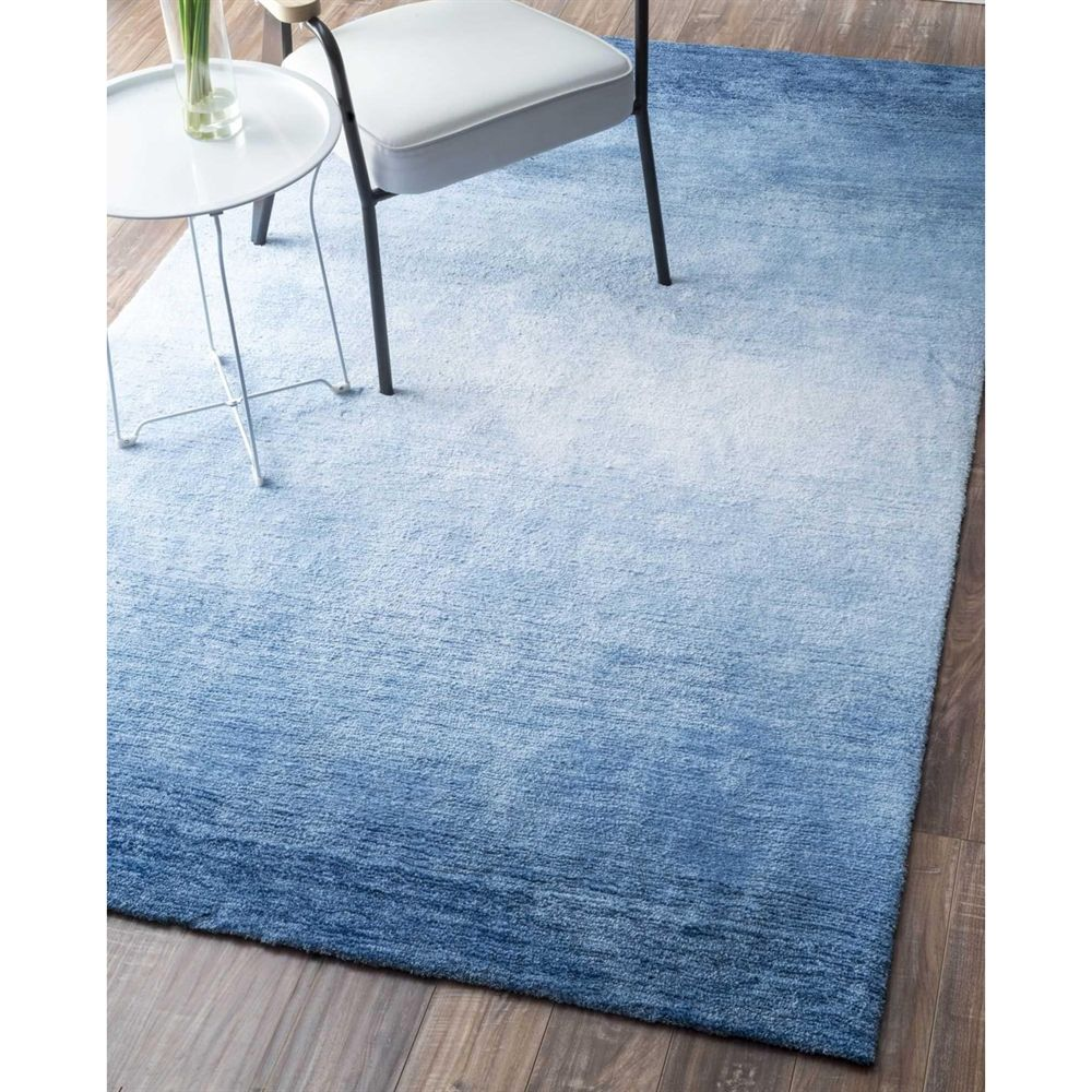 Nuloom Blue Hand Tufted Ombre Bernetta Area Rug