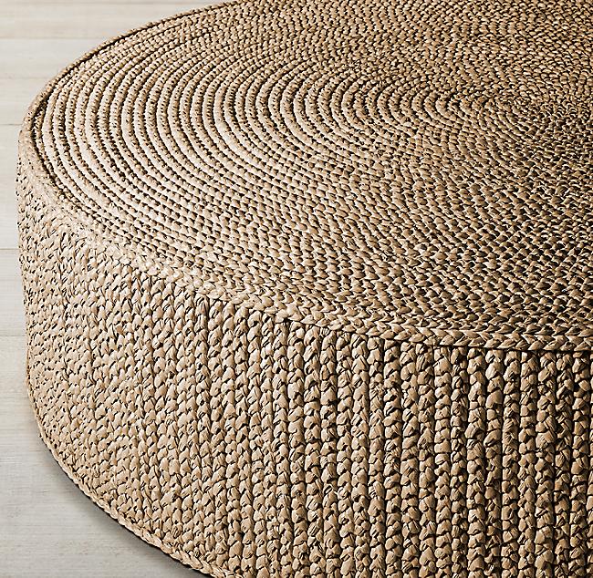 Venua Seagrass Round Coffee Table In 2020 Ottoman In Living Room