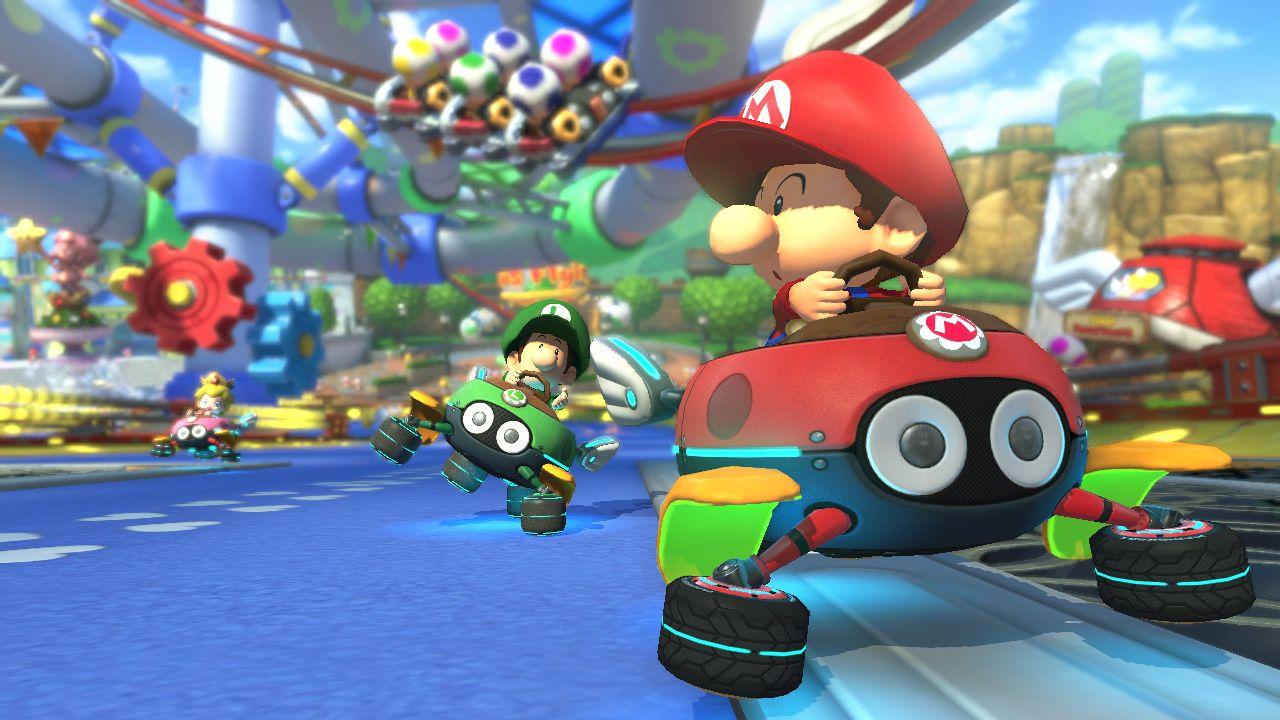 Baby Mario Baby Luigi And Baby Peach Mario Kart 8 Dlc Pack Mario Kart Super Mario Kart Mario