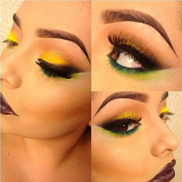 Love this fabulous look by Pritylipstix using #Sugarpill and #MACcosmetics! She used Bulletproof black eyeshadow to smoke out her eyeliner. Sexxxy!
