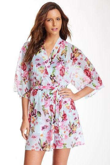 Knit Chiffon Kimono Robe by Betsey Johnson on @HauteLook Happy ...
