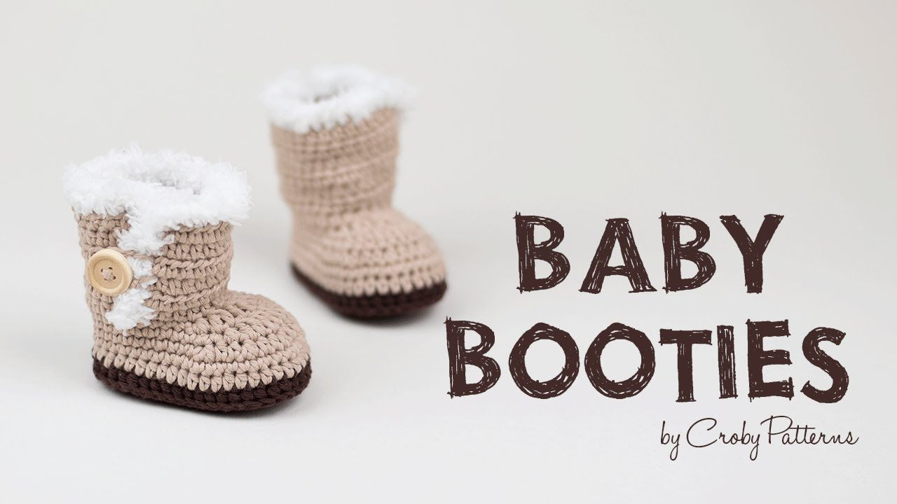 Ugg Inspired Crochet Baby Booties | Croby Patterns | BEBYTOS ...