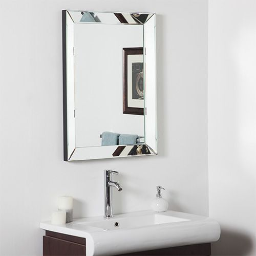 Mirror Rectangular Beveled Framed Frames On Wall