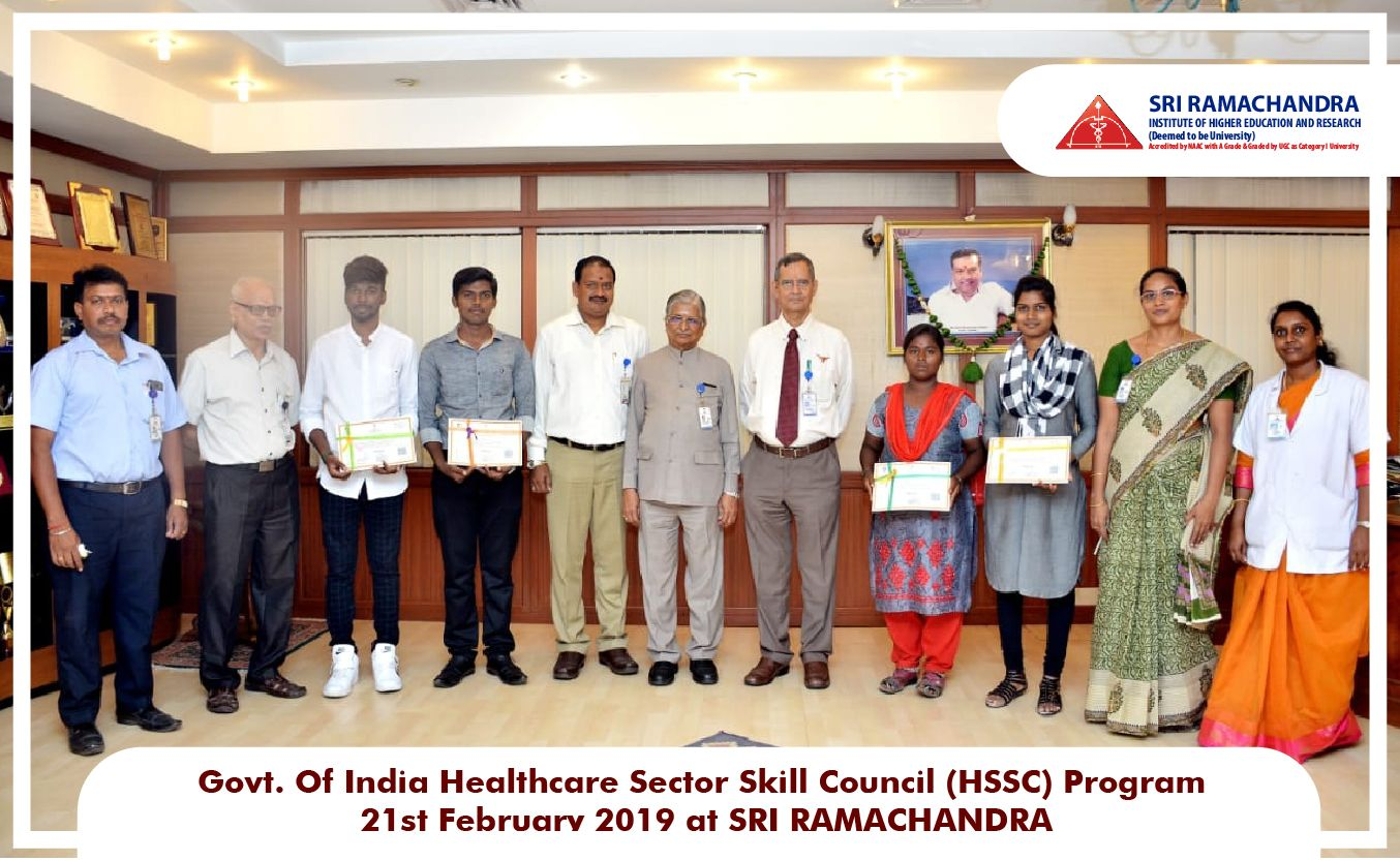 Govt of india healthcare sector skill council program