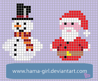 Xmas Character Grid by Hama-Girl on DeviantArt