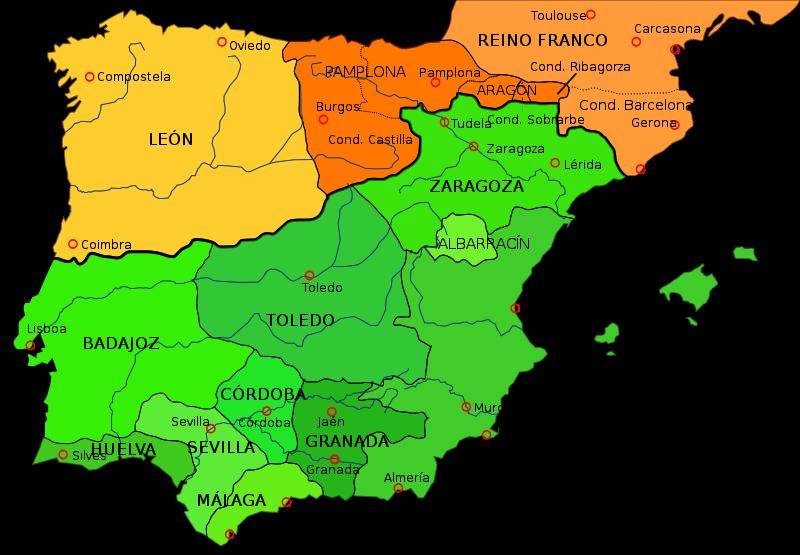 Spain, c. 1030 - Taifa kingdoms | Maps | History of portugal ... on
