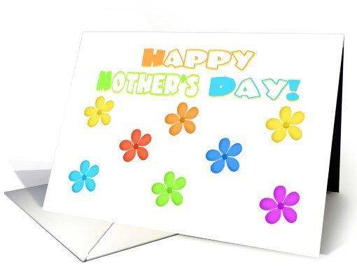 Mothers Day For Mom Cute Flower Art Card 606863 Holiday Cards