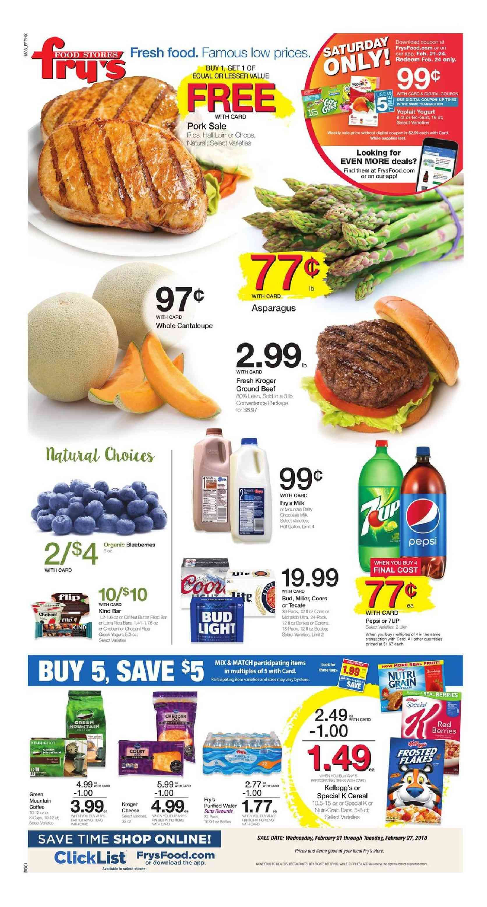 Frys Food Weekly Ad Flyer January 2 8 2019 Weekly Ad Circulars