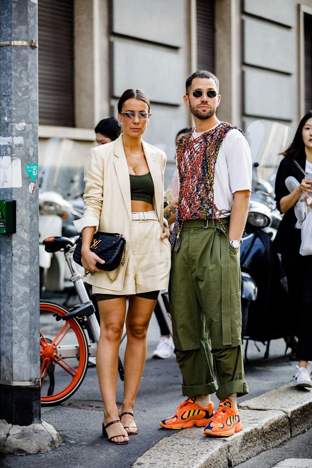 ec022af6f607 Milan Fashion Week Spring Summer 2019 Street Style ss19 streetwear sneakers